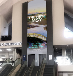 New Orleans Airport Elevator Wrap