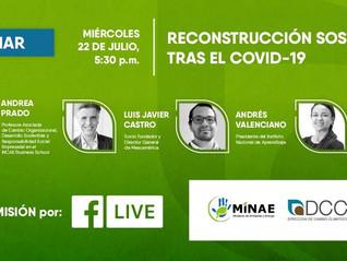 Profesora Prado participó en webinar acerca de la reconstrucción sostenible tras el COVID-19