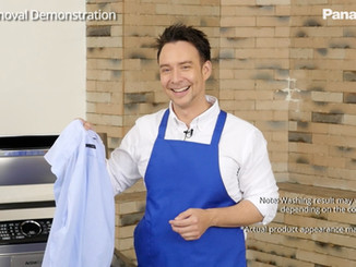 パナソニック アジアの洗濯機のCM。演技のテーマは「ジムキャリー」(笑)