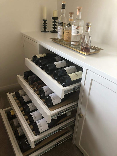 Bespoke Built-in Storage Unit with Wine