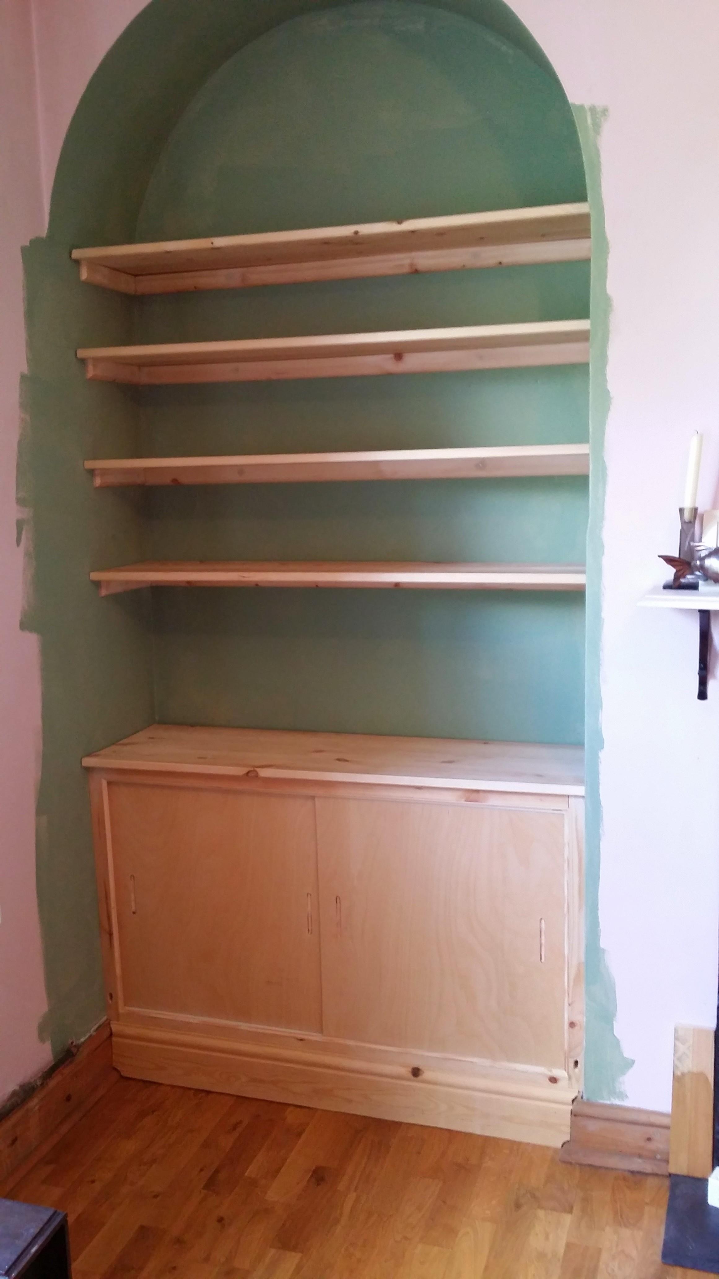 Custom Alcove Storage Unit