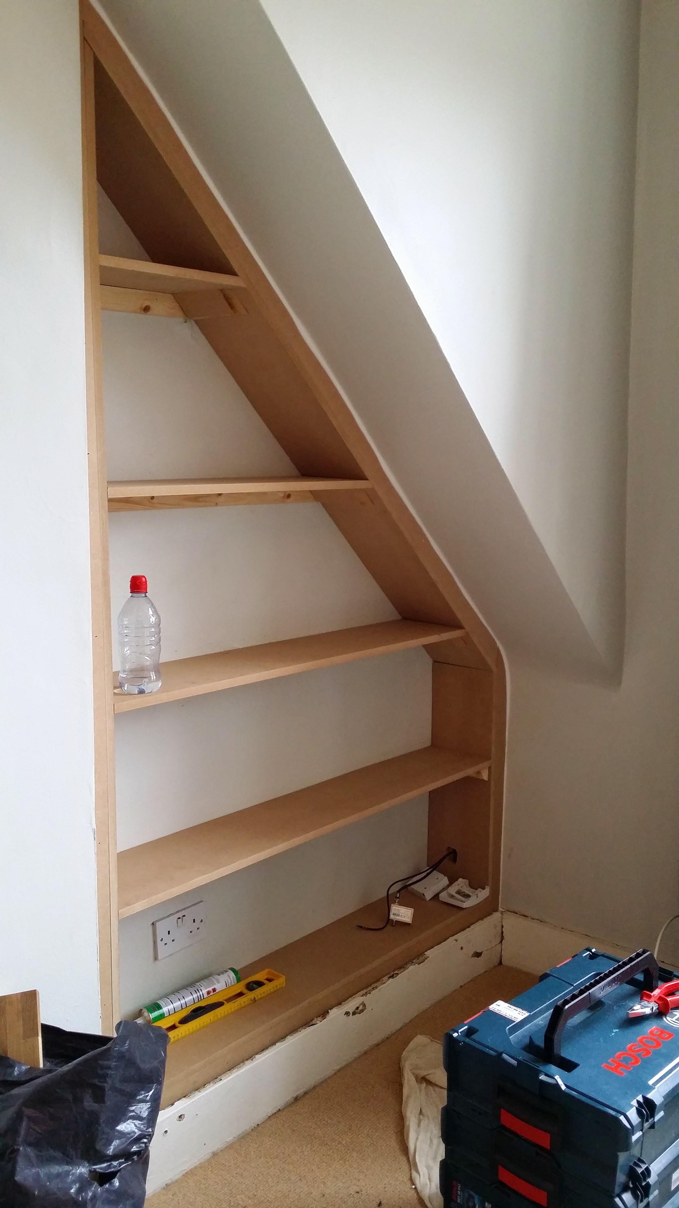 Bespoke Alcove Fitted Shelfs