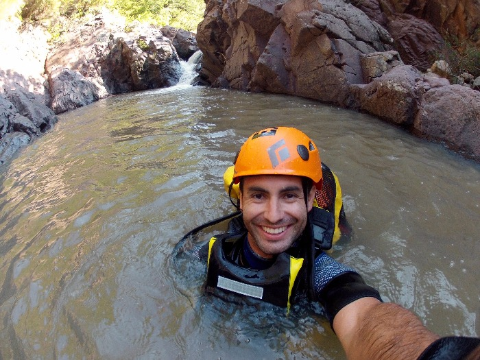 Fish canyoning tour guide