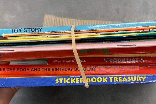 Disney Classic paperbacks- Robin Hood, Peter Pan, Little Mermaid, Hardcover Toy