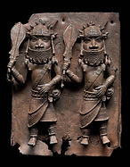 Relief plaque showing two officials with