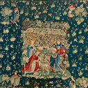 Gothic millefleurs tapestry