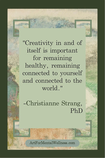 Creativity is important for health