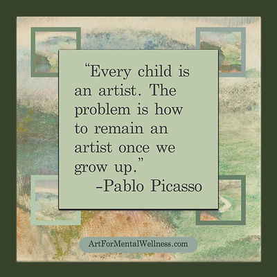 Every child is an artist... Picasso