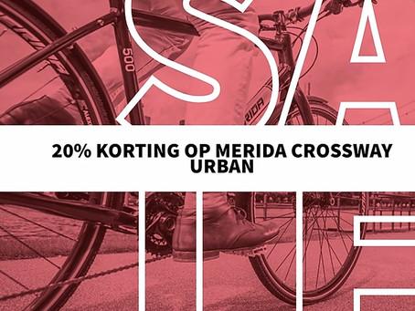 20% KORTING - MERIDA CROSSWAY URBAN