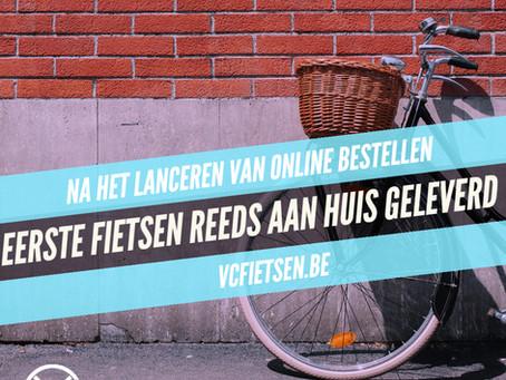 Al de eerste fietsen aan huis geleverd die online besteld waren!