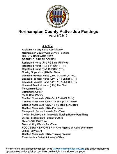 Northampton County Active Job Postings_e
