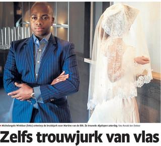 Winklaar's Wedding dress in the newspaper