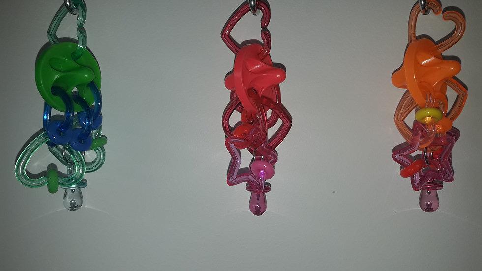 Capitaine Crochu | jouet pour perruche - oiseau jouet - acrylique - Toupie