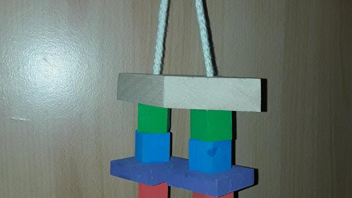 Capitaine Crochu | jouet en bois perroquet - Petit Durable - Jouet en bois perruche perroquet pas cher - jouet oiseau