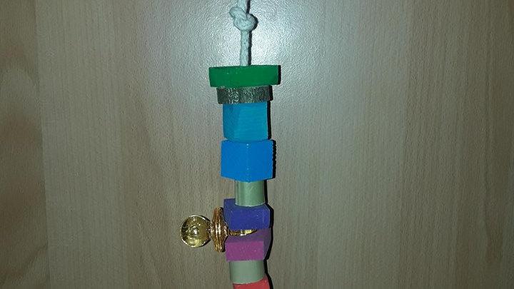 Capitaine Crochu | jouet en bois perroquet | Liane | jouet oiseau perruche perroquet