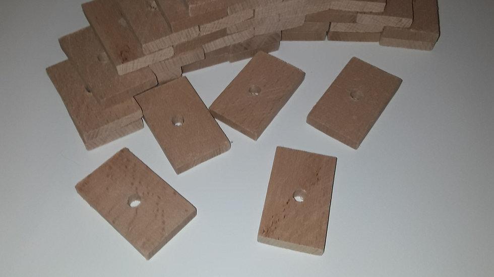 Lot planchettes hêtre pack 40 pièces