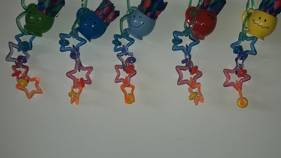 Capitaine Crochu | jouet perruche oiseau plastique - tasse smiley - acrylique perles jouet