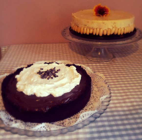 chesecake ai marroni e al cioccolato