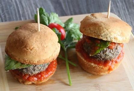 kosher sliders. vegan gluten free