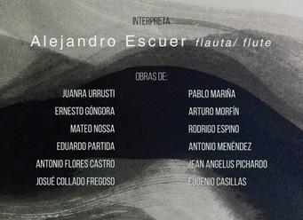 """Alejandro Escuer realizará el estreno y presentación el disco """"Flux"""" , integrado por las o"""