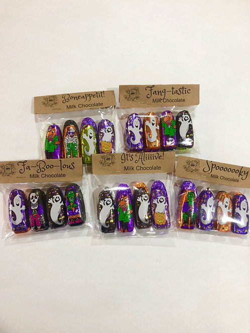 8 Pack Mini Foil Wrapped Halloween Chocolates
