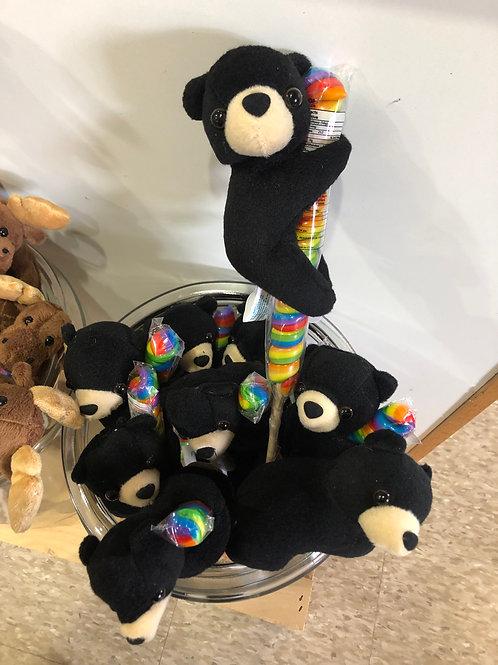 Black Bear Twirl Pops