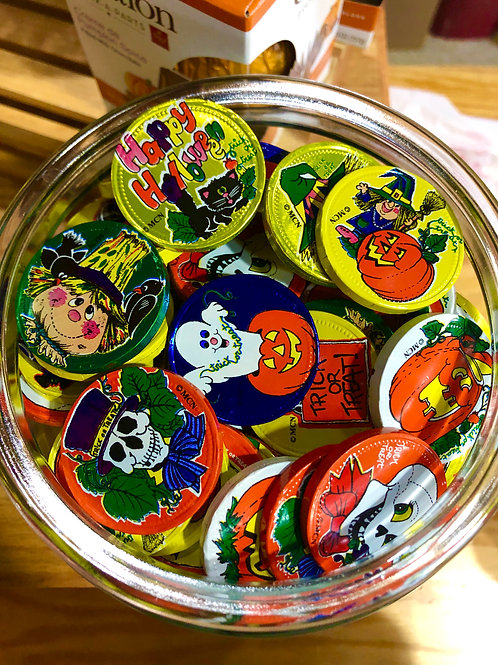 Milk Chocolate Halloween Coins