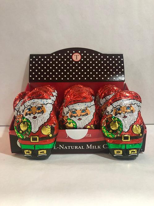 Thin Milk Chocolate Santa