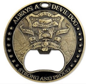 Once a Marine, Always a Marine coin/bottle opener