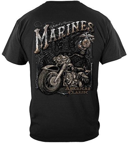 USMC Marine Biker American Classic Silver Foil