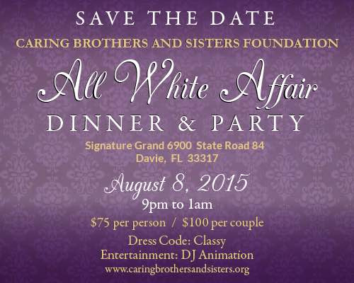 Save-the-Date All White Affair Dinner & Party