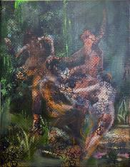 Nymphes et satyres#1 (La mémoire de la peinture)