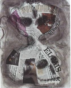 Barcelo Miquel, Technique Mixte, 66x50cm