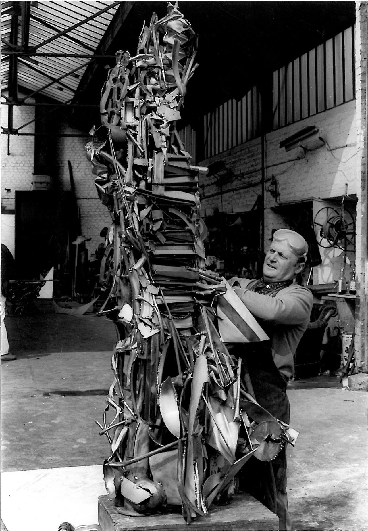 Albert Feraud à l'atelier
