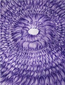 Pastel violet sur calque