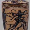 Actéon dévoré par ses chiens,  Lekythos à fond blanc, provenant d'Attique, vers 480-470 av. JC, Musée national archéologique d'Athènes