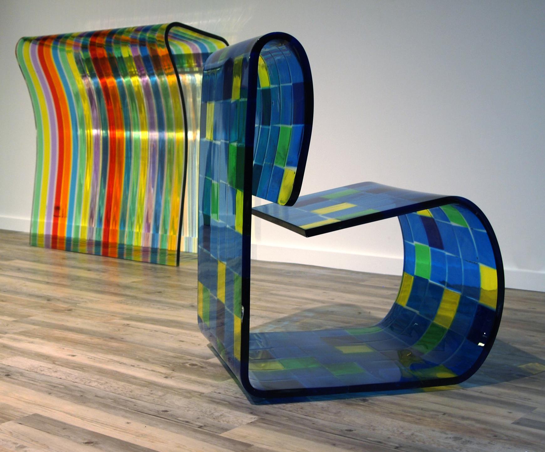 Console et fauteuil dacryl