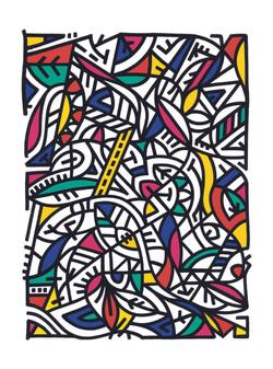 Sifat, Flâner, sérigraphie réhaussée, 30 x 40 cm, 2018 AFFICHE