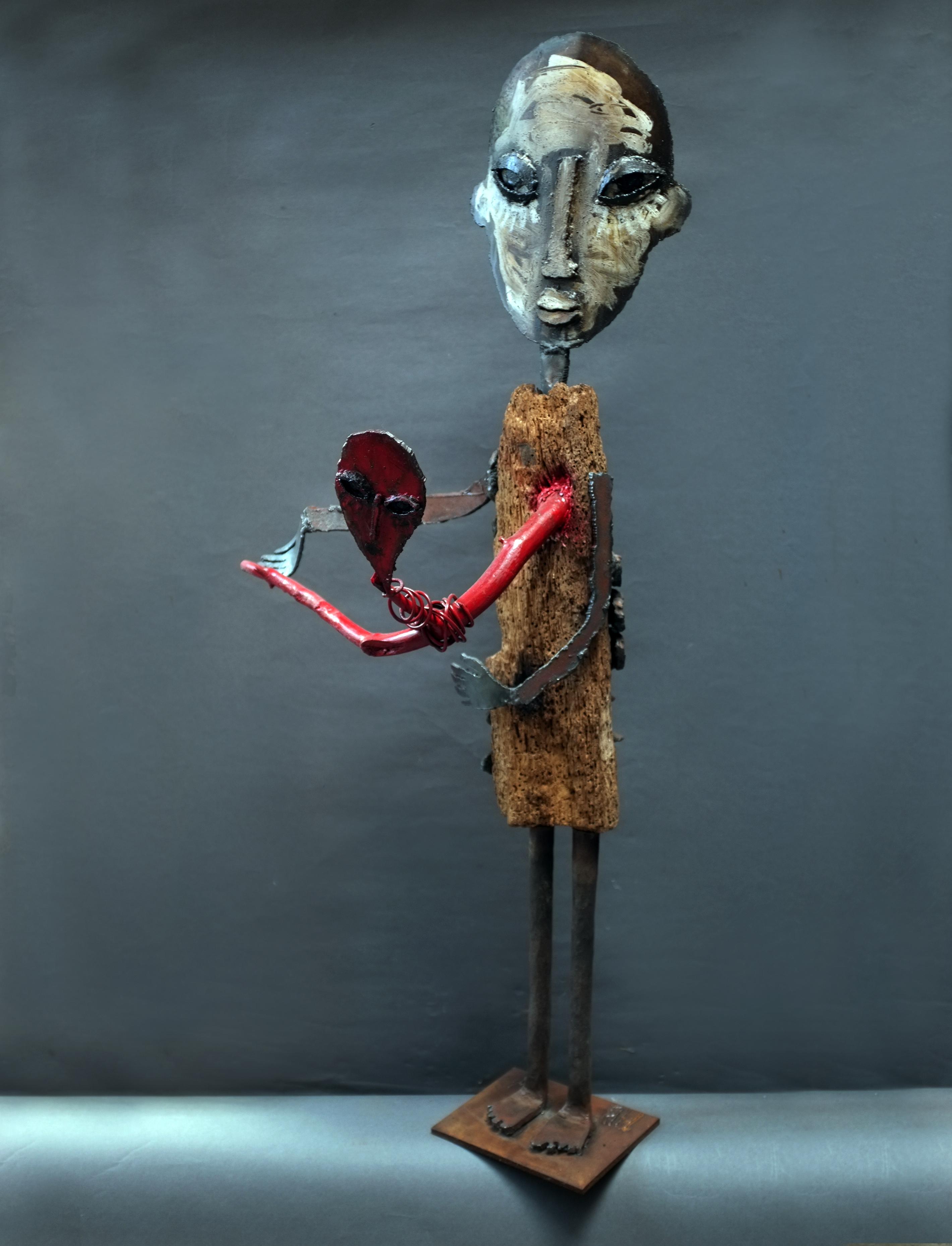 Flux sanguin, 2011, bois et métal
