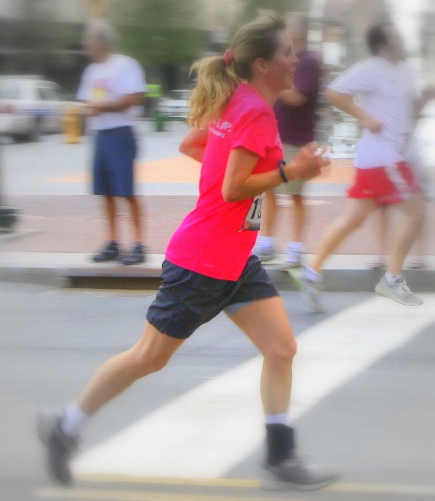 April Goode Running at a 5K