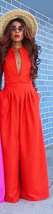 ARIELA RED JUMPSUIT