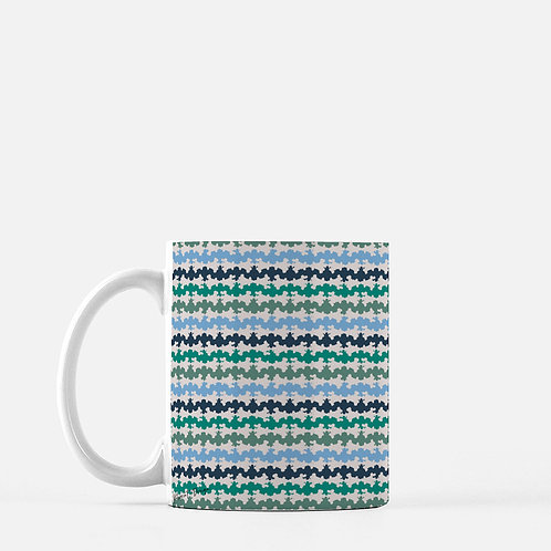 Ripple Mug in Blue - Set of 2
