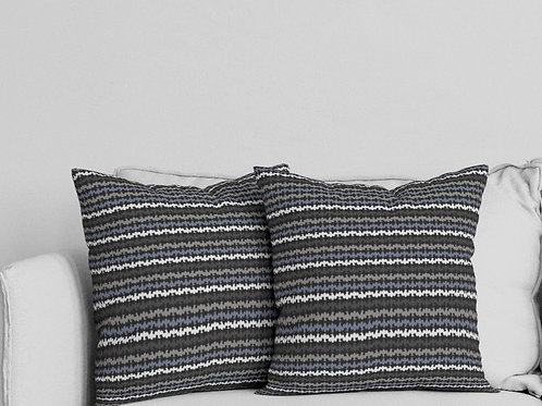 Ripple Pillow in Dark Gray