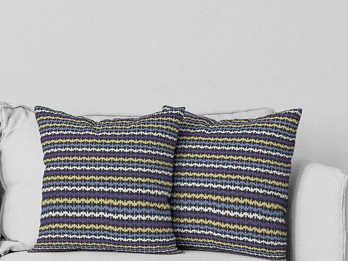 Ripple Pillow in Purple