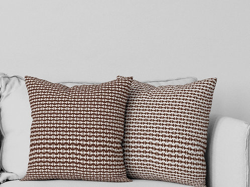 Ripple Pillow in Brown