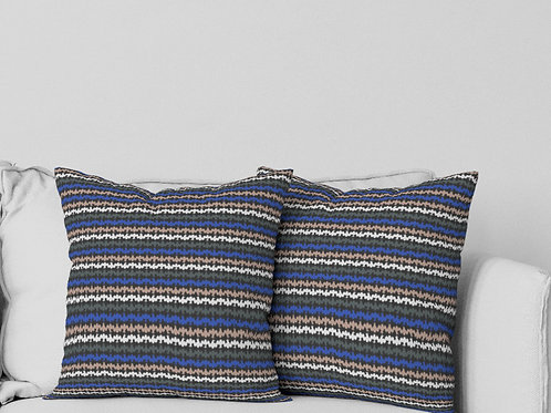 Ripple Pillow in Blue/Multi