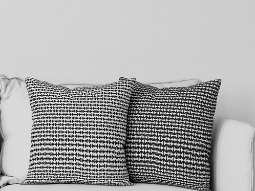 Ripple Pillow in Black and White