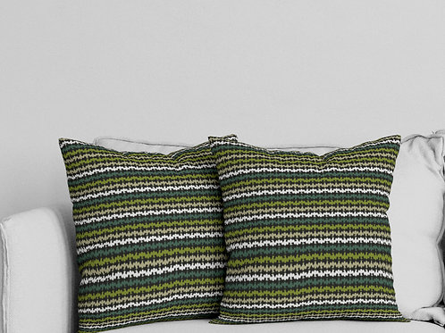 Ripple Pillow in Green