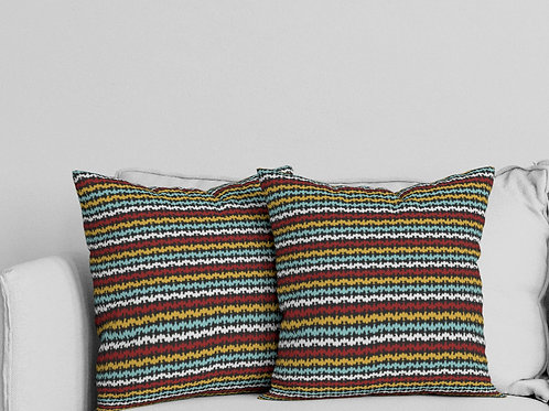 Ripple Pillow in Yellow/Red