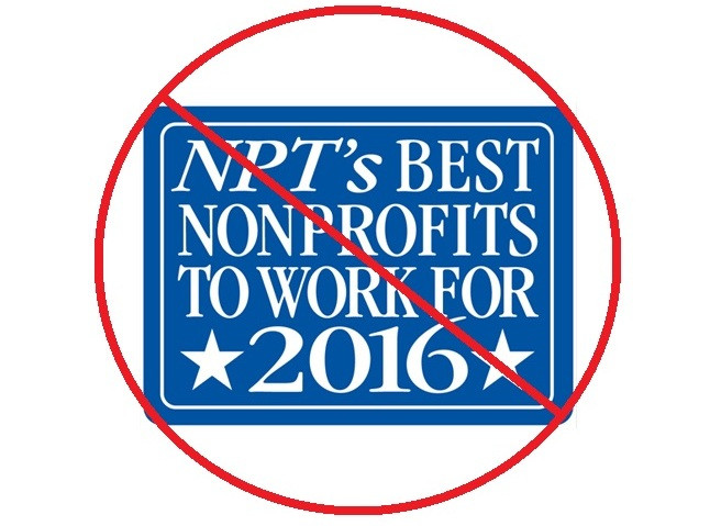 Why did The NonProfit Times drop WWP from Best NonProfits to Work For?
